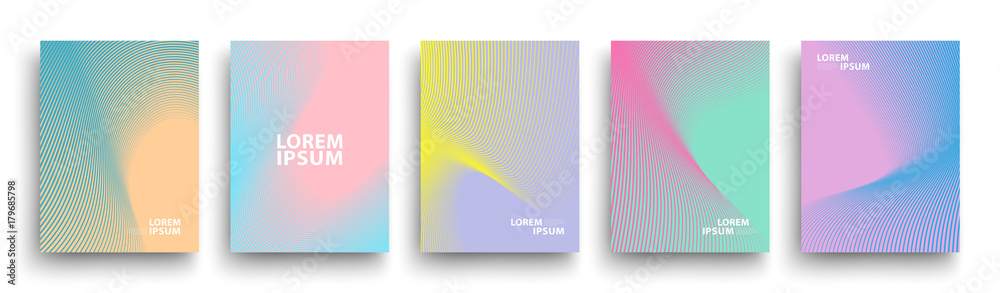 Fototapety, obrazy: Simple Modern Covers Template Design. Set of Minimal Geometric Halftone Gradients for Presentation, Magazines, Flyers, Annual Reports, Posters and Business Cards. Vector EPS 10