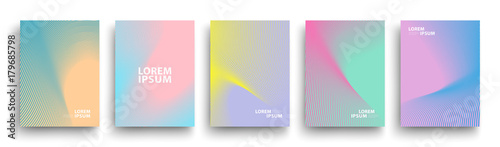 Simple Modern Covers Template Design. Set of Minimal Geometric Halftone Gradients for Presentation, Magazines, Flyers, Annual Reports, Posters and Business Cards. Vector EPS 10 - 179685798