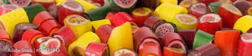 Foto op Aluminium Snoepjes image of many delicious sweets closeup