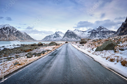 Fotodibond 3D Droga w Norwegii na Lofotach