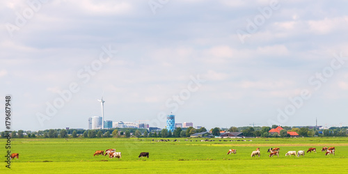 Photo  Panoramic view of the Amsterdam Southeast office area (Bijlmer)