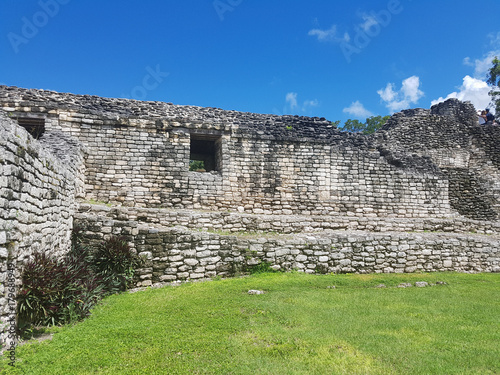Foto op Aluminium Rudnes ruins of kohunlich