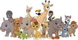 Fototapeta Fototapety na ścianę do pokoju dziecięcego - Set of funny kids animals