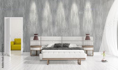 Modern Interior Design Of Bedroom In Vogue With Plant And Copyspace Inspiration Vogue Interior Design Set