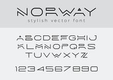 Design Vector Linear Font Titl...