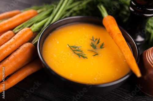 Fototapeta Carrot cream soup