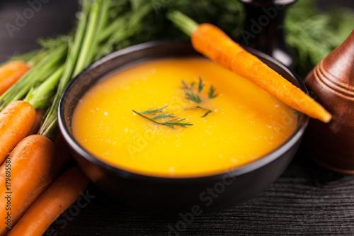 Fotografie, Obraz  Carrot cream soup