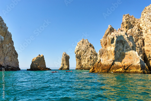 Rock formations in Lands End, Cabo San Lucas, Mexico Wallpaper Mural