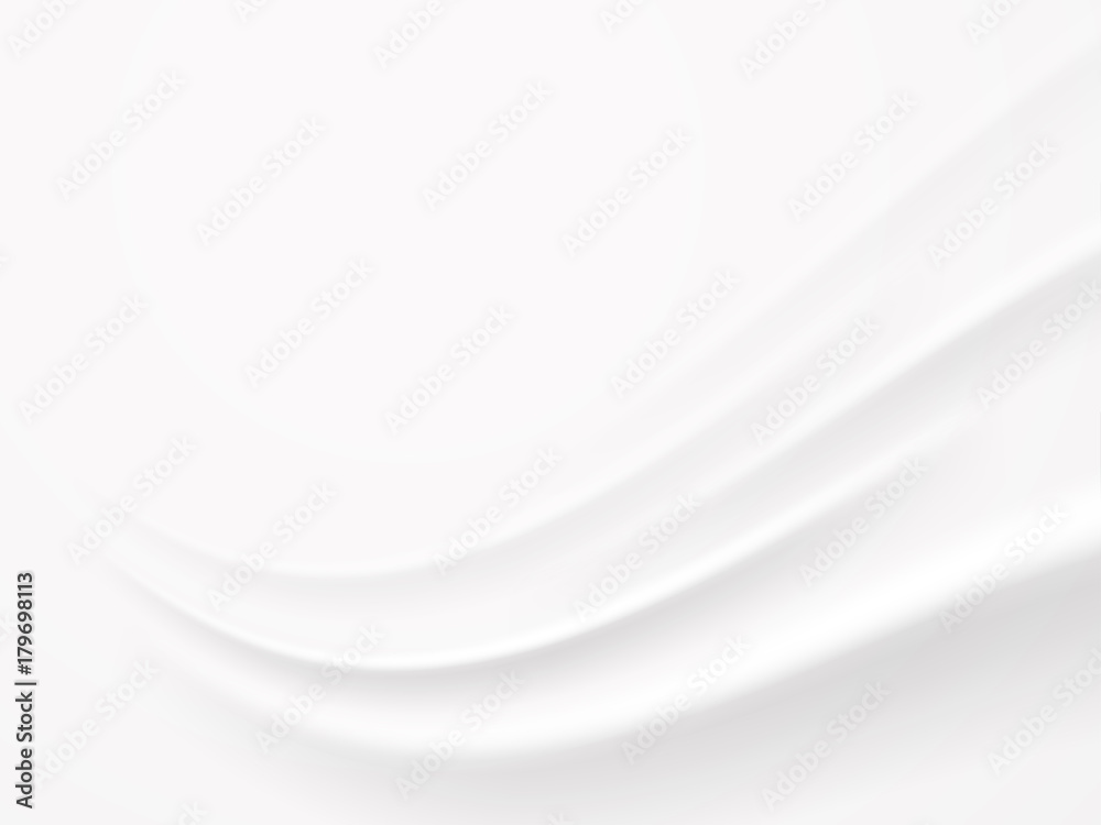 Fototapeta Abstract white wave background