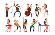 Rock And Pop Musicians Vector ...
