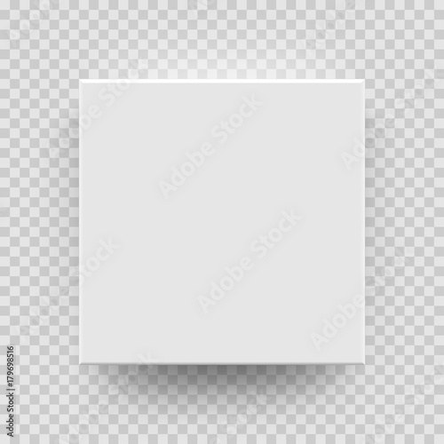 Fotografía White box mock up model 3D top view with shadow