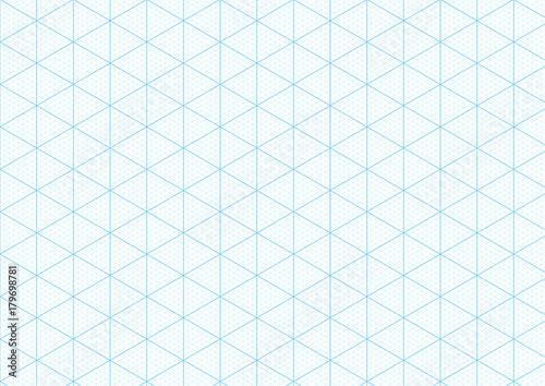 isometric graph paper background with plotting triangular and