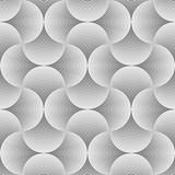 bezszwowe monochromatyczne półkole wzór. - 179702314