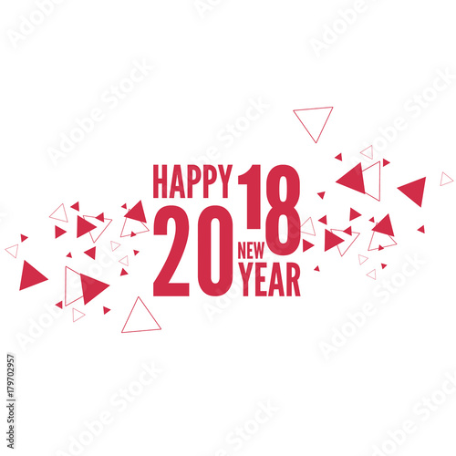 happy new year 2018 theme vector the scattering particles in the form of a