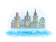 Christmas In Prague Postcard I...