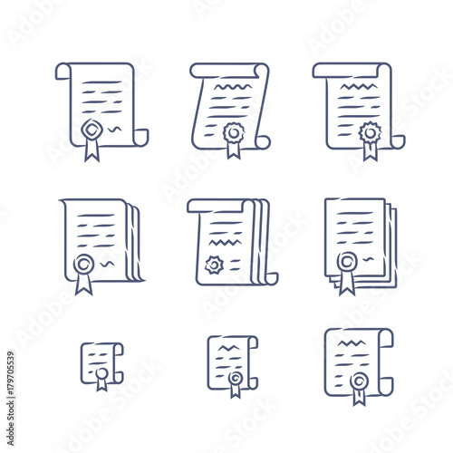 Contract Vector Icons Legal Documents Icon Set And Business Buy - Buy legal documents