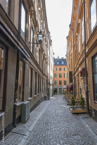 Photo  Olf Town of Stockholm Sweden