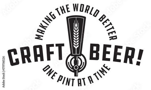 Foto  Craft Beer Vector Design Craft beer draft tap logo graphic