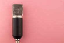 Microphone On A Pink Background
