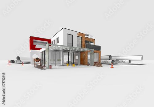 Projet de construction d 39 une maison d 39 architecte acheter for Acheter maison en construction