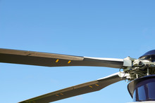Close Up Of Helicopter Rotor Blades