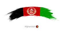 Flag Of Afghanistan In Rounded...