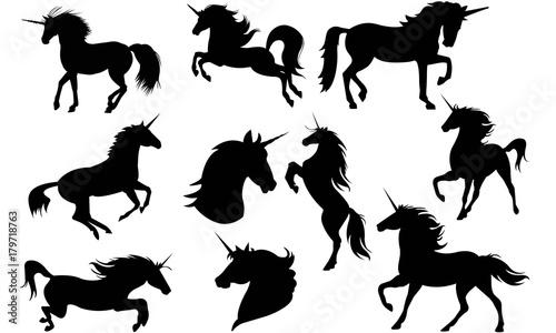 Photo  Unicorn Silhouettes Vector