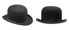 Two Stylish Black Bowler Hat