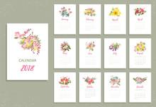 Printable 2018 Calendar With P...