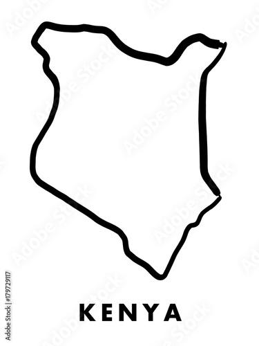 Kenya map outline Wall mural
