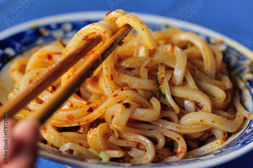chinese food cold noodles with sesame sauce