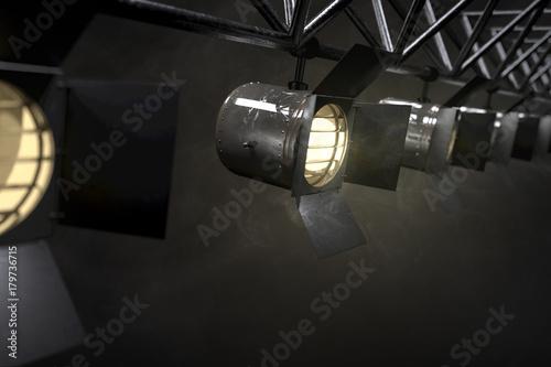 In de dag Licht, schaduw Bühnenscheinwerfer