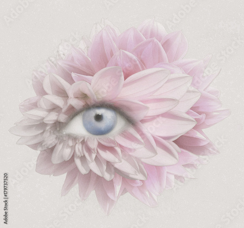 Ingelijste posters Surrealisme Eye of Petals