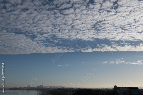 Clouds of altocumulus Canvas Print