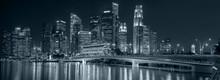 Singapore Night Downtown Skyli...