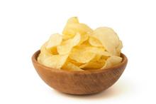 Kartoffelchips In Holzschälchen