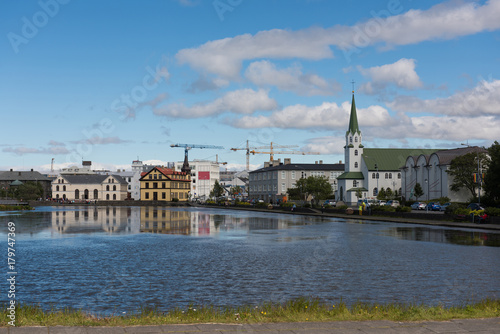 Reykjavik, Iceland Tapéta, Fotótapéta