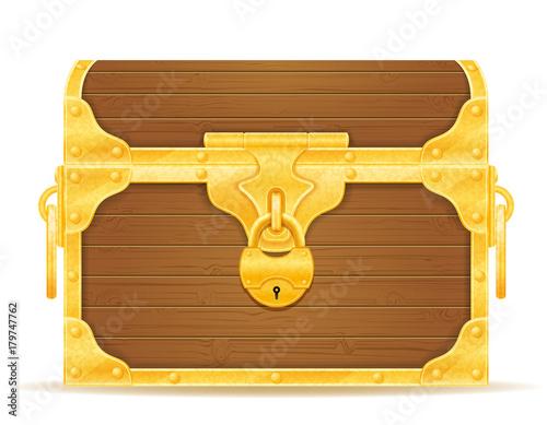 Obraz na plátně vintage wooden chest with stock vector illustration