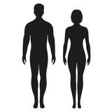 sylwetki mężczyzn i kobiet na białym tle