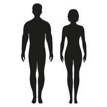 Silhouettes Of Men And Women O...