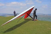 Hang Glider Prepared To Fly