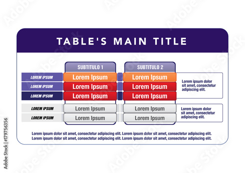 Data Table Template Ideal For Presentations And Institutional