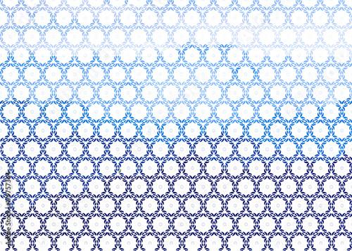 Zdjęcie XXL ornament dekoracyjny tło błękitni kwiaty na białym tle