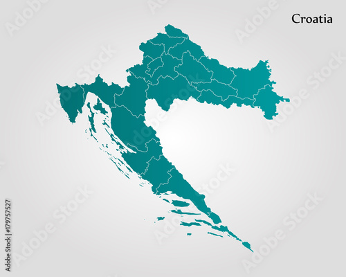 Fotografie, Obraz Map of Croatia