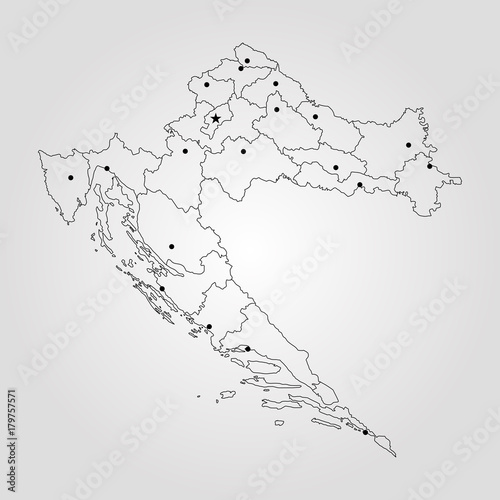 Fototapeta Map of Croatia