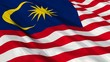 Malaysia Flag Waving. Seamless loop.