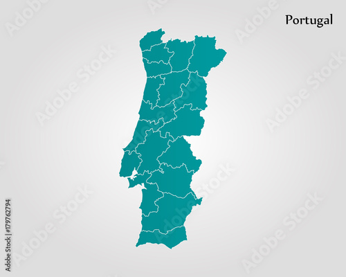 Map of Portugal Canvas Print