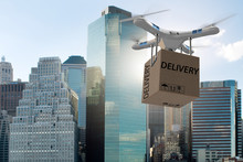 Drone Delivery Concept With Bo...