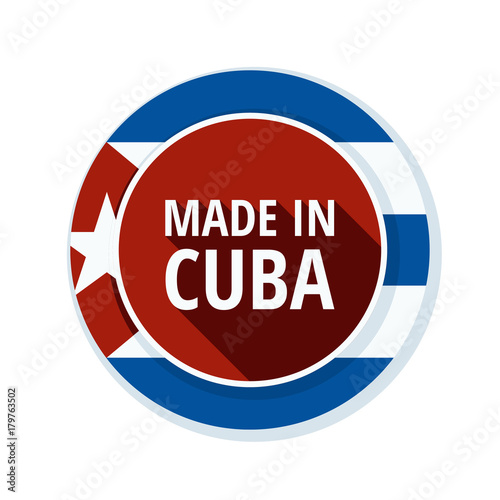 Photo Made in Cuba label illustration