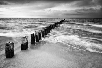 Fototapeta Morze Poland, Baltic Sea, Leba, Beautiful sandy beach